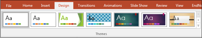 PowerPoint Design options