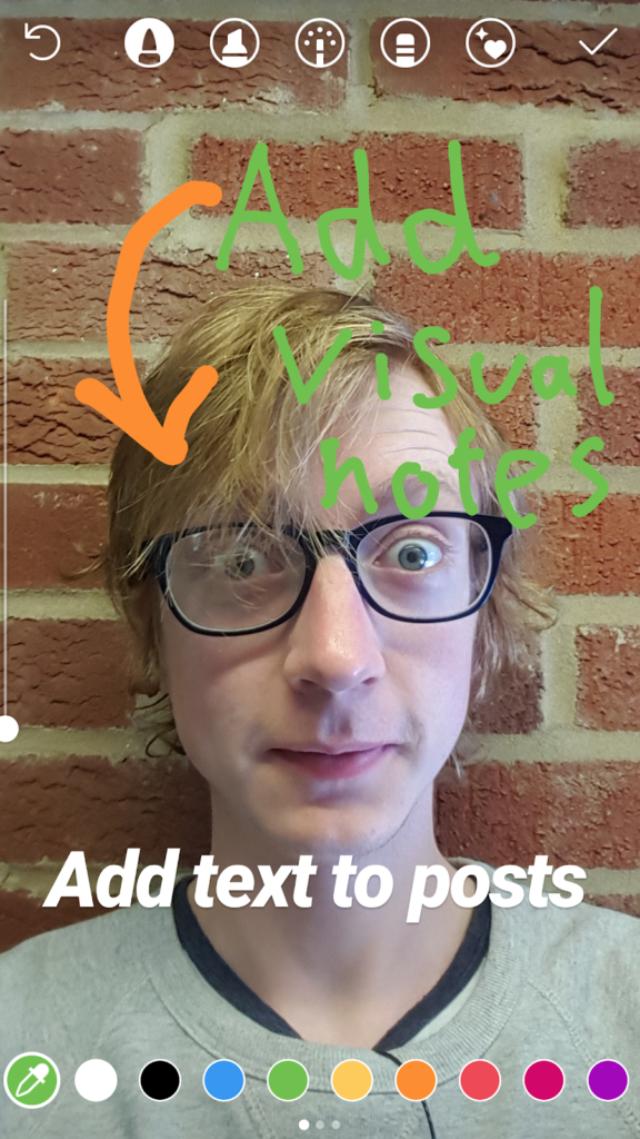 annotated image in Instagram