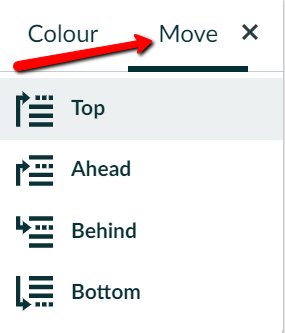 An arrow highlights that the Move option can be found in the top right of the move menu
