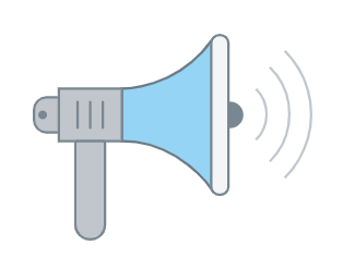 Canvas Announcements megaphone icon