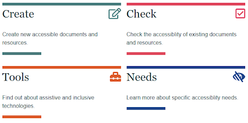 Screenshot of the Digital Accessibility webpage http://www.sussex.ac.uk/tel/accessibility