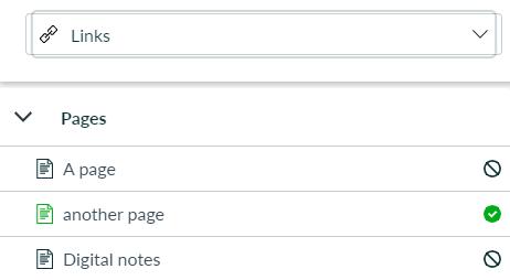 screenshot of adding a link