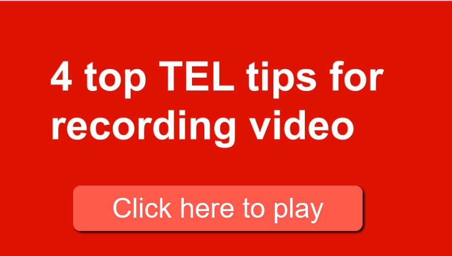 Screenshot of the video: $ top TEL tips for recording video with link to the video https://sussex.cloud.panopto.eu/Panopto/Pages/Viewer.aspx?id=e8c256ec-8086-48b4-98b8-abc000aef99d