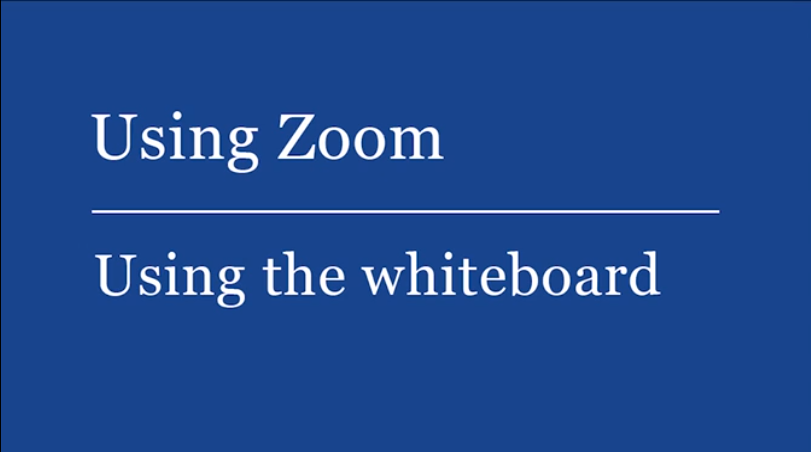 See how to use a whiteboard in Zoom