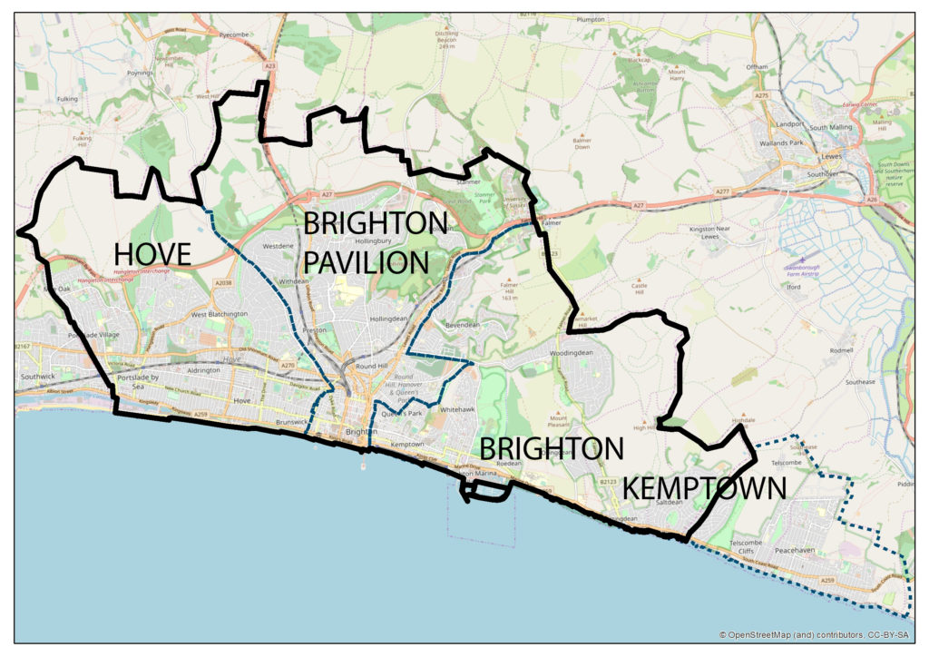 Map Of Uk Parliamentary Constituencies.The Brexit Burden A Constituency Level Analysis For Hampshire And